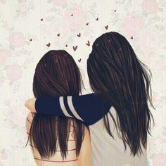 girly_m friends in school Best Friend Drawings, Girly Drawings, Girly M, Sisters Drawing, Sarra Art, Bff Pictures, Best Friend Goals, Best Friends Forever, Cute Wallpapers