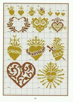 Hundreds of simple vintage cross stitch designs