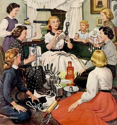 """Illustration, 1950s """"How nice!  What the heck is it?"""""""