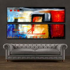 """'At Last'- 48"""" X 24"""" Original Abstract Art . Free shipping within USA & 30 day return policy."""