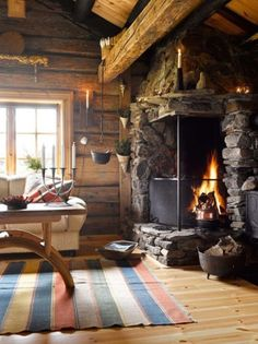 With love and light and the rustic cabin