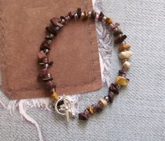 Gemstone Bracelet Jewelry Glass Beads by TillaGarden on Etsy, $11.50
