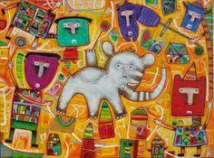 http://fineartamerica.com/featured/the-circus-evelyn-escobar.html You can contact the artist trough her Facebook page Evelyn Escobar.