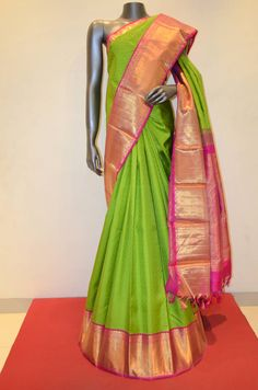 Bridal Green Kanjeevaram Silk Saree Product Code: AB210322 Online Shopping: http://www.janardhanasilk.com/Saree-Collections/Kanjeevaram-Silk-Saree/Bridal-Green-Kanjeevaram-Silk-Saree?limit=25