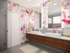 Colourful bathroom for twins Czech Republic, Double Vanity, Twins, Bathrooms, Color, Design, Bathroom, Full Bath, Colour
