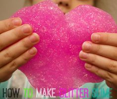 how to make slime-glitter slime with borax