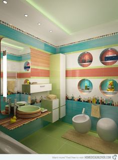When we are doing a design for kids, it is always colorful and is full of fun. This also reflects the characteristic of children showing how lively, dynamic and happy-go-lucky they are. Kids are kids and everything associated with them is always fun-filled! And that doesn't exempt the bathroom