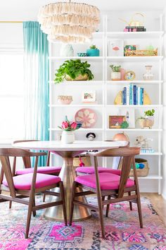 Pink Dining Room Reveal