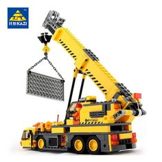 d5ea2502c88f Compare Price KAZI Toys City Engineering Building Blocks Compatible Legoed  City Toys DIY Crane Sets Education Bricks Gifts For Kid Brinquedos