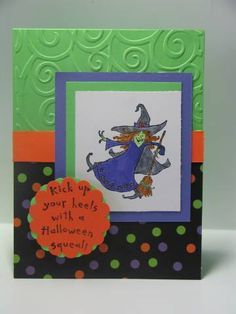 Hey ghoul friend Kickin it Up for Halloween by NellieKC - Cards and Paper Crafts at Splitcoaststampers