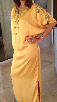 Gandoura Kaftan Abaya, Caftan Dress, Kimono, African Fashion Dresses, African Dress, Abaya Fashion, Muslim Fashion, Moroccan Dress, Hijab Outfit