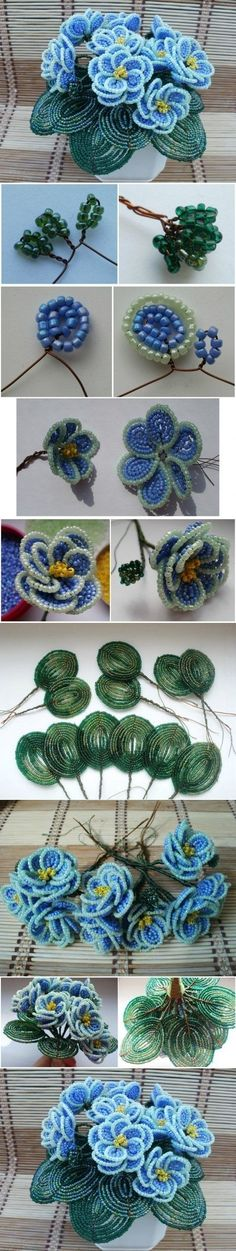DIY Beautiful Bead Flower Bouquet |