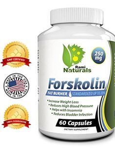 Forskolin 250mg Pure Coleus Forskohlii Root Extract Standardized Up to 20% - Satisfaction Guaranteed - Lose Weight - Metabolism Boost - Fat Burner - Diet Pills - Best Dietary Supplement - Helps to Vanish Belly Fat and Excess Weight - Made in the USA in a GMP Organic Certified and FDA Registered Facility Rami Naturals Best Forskolin Oz for Oz http://www.amazon.com/dp/B00K7L7XP2/ref=cm_sw_r_pi_dp_jskjub0CB4G7Y