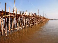 Bamboo bridge in Kampong Cham