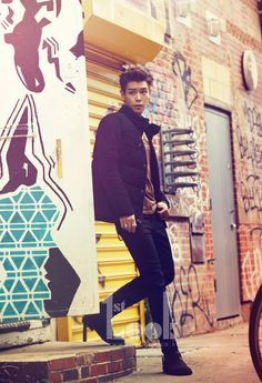 T.O.P.(BIGBANG) in NY.  The Look.  #top #bigbang