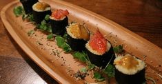 Raw Spicy Tuna and Curry Miso Nori Rolls