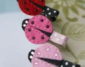 Lady bug barrettes