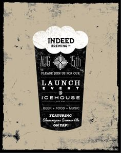 Indeed Brewing Launch Event Poster