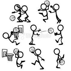 Stickfigure Basketball Royalty Free Stock Vector Art Illustration