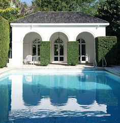 Pool and Loggia at Lakeview House otherwise known as El Vedado in Palm Beach - the one-time winter retreat of Consuelo Vanbderbilt Balsan.