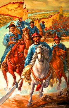 Qing Dynasty's general Li Xubin at the Battle of Sanhe, Taping Rebellion, China