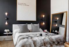 How to Create Stunning Interior Design in Black n White, 100 Plus 30 Black White Decor Ideas – Lushome Home Bedroom, White Decor, Luxurious Bedrooms, Home Decor, Modern Bedroom, Modern Bedroom Decor, Eclectic Decor Bedroom, Eclectic Bedroom, Interior Design