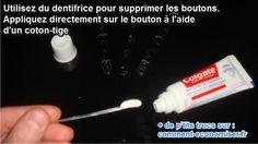 Vous ne le croyez peut-être pas, mais un remède simple contre les boutons s'avère être... le dentifrice.  Découvrez l'astuce ici : http://www.comment-economiser.fr/recette-de-grand-mere-pour-les-boutons.html?utm_content=buffer91d62&utm_medium=social&utm_source=pinterest.com&utm_campaign=buffer