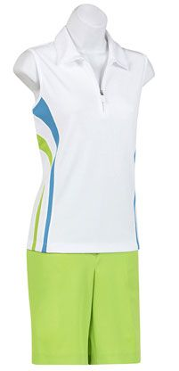 EP Pro Ladies and Plus Size Golf Outfits (Shirt & Shorts) - St. John