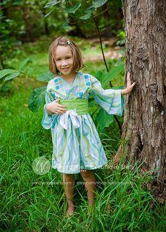 Girls Kimono Dress Ocean Serenity many childrens par Sunloveshirts, $54,00