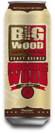 based in White Bear Lake, MN. Morning Wood is brewed with Fuggle and Cascade hops and adds hints of oatmeal and chocolate to make every coffee‐lover's secret beer dreams come true. Morning Wood uses only fresh roasted Dunn Brothers Coffee Beans.