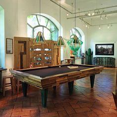American Pool Table by Hillsideout - Request more info at info@rossanaorlandi.com #rossanaorlandi #design #gallery #milano #italy #store #spazio #home #decor #unique #collection #milan #interior #unique #uniquepiece #exclusive #hillsideout #american #pooltable