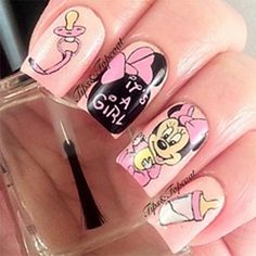 Baby shower nails on pinterest nails baby boy nails and baby girl