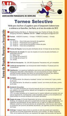 Afiche con informaciones sobre un torneo de bowling.