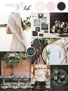 Ivory and Ink - A Moody and Dramatic Industrial Wedding Palette