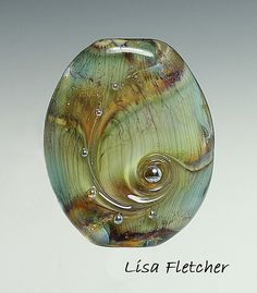 Sea Grass glass bead. Gorgeous! |Pinned from PinTo for iPad|