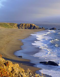 Looking down the coast--Bodega Bay, California