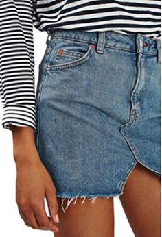 WSPLYSPJY Womens Casual Fake Two Piece Denim Shorts Skirts Jeans