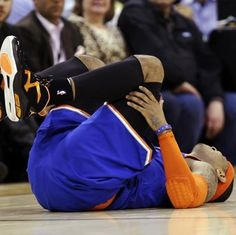 Carmelo Anthony Sprains Ankle | Robert Littal Presents BlackSportsOnline