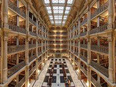 George Peabody Library, Baltimore, Maryland, EUA