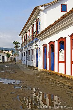 Paraty, Brasil Cool Places To Visit, Places To Go, Holiday Places, Colonial Architecture, Most Beautiful Cities, Watercolors, The Good Place, Wanderlust, Stock Photos
