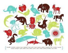 Modern Animal Alphabet