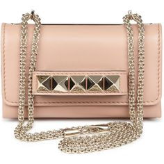 Valentino Va Va Voom Studded Leather Clutch ($1,740) ❤ liked on Polyvore