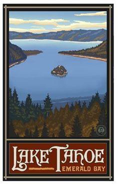 Lake Tahoe Emerald bay poster