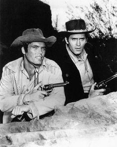 Cheyenne Clint Walker Ty Hardin with Guns Bronco TV Western Stars 2436 Poster Cheyenne Tv Show, Cheyenne Bodie, Old Western Actors, Western Movies, Tv Westerns, John Wayne, 1 John, Austin Texas, The Lone Ranger