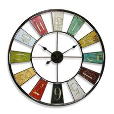 "Kaleidoscope 24"" Wall Clock"