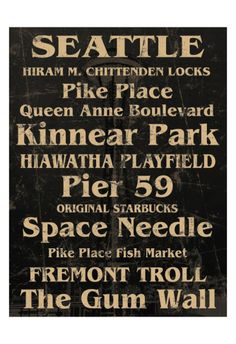 Seattle. Been to most of these=) and I'll be living on queen anne hill next year hopefully!