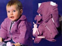 Сиреневый комплект для новорожденного с капюшоном