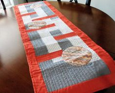 Chevron Circles Modern Quilted Table Runner by homesewnbychristine