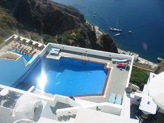Hotel Loukas in Santorini, Greece. Follow us on facebook.com/PoolSupplyWorld for more pictures of awesome pools!