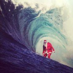 Surfs up Santa Aussie Christmas, Beach Christmas, Merry Christmas To All, Father Christmas, Christmas Holidays, Coastal Christmas, Tropical Christmas, Christmas Ideas, Xmas